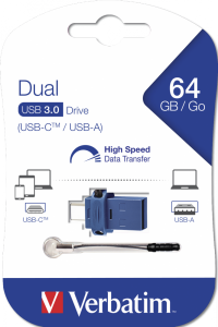 Verbatim 64GB USB Flash Type-C/USB 3.0 Dual