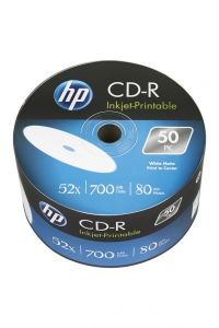 HP CD-R 700MB Inkjet Printable 50pk