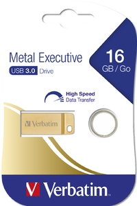 Verbatim 16GB USB 3.0 Flash Metal Executive Gold