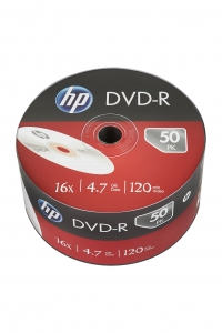 HP DVD-R 4.7GB 16x 50pk. Wrap