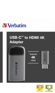 Verbatim USB-C™ to HDMI 4K Adapter