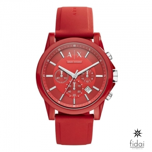 Armani Exchange Silicone Red