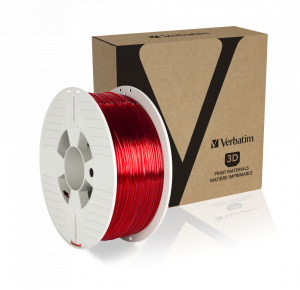 Verbatim PET-G Filament 1.75 mm 1kg - Red Transparent