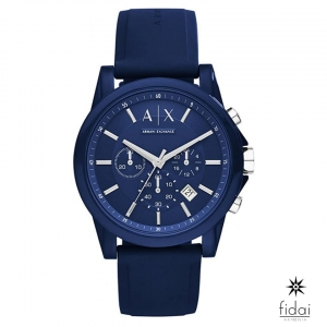 Armani Exchange Silicone Blue