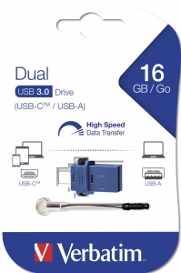 Verbatim 16GB USB Flash Type-C/USB 3.0 Dual