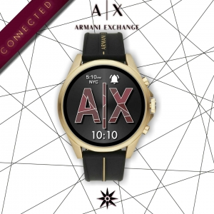 Armani Exchange Smart Watch Silicone Gold