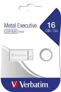 Verbatim 16GB Flash Metal Executive USB 2.0 Silver